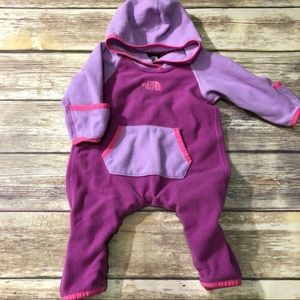 North face purple fleece romper